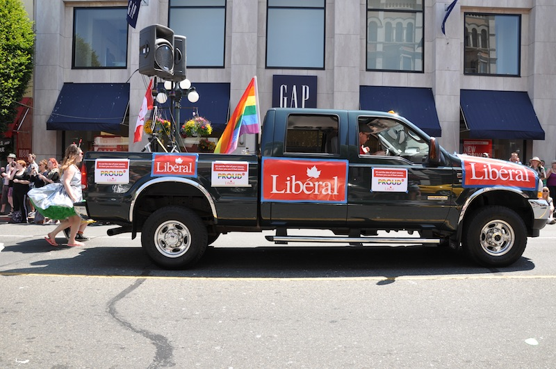 The Liberal Party's Pride float –Hugo Wong (photo)