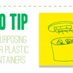Eco-Tip: The many purposes of plastic containers
