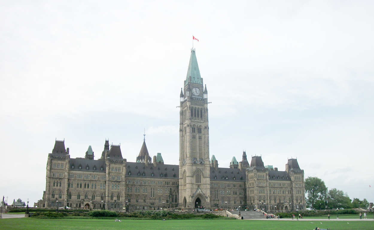 The centre block of the federal Parliament Buildings in Ottawa