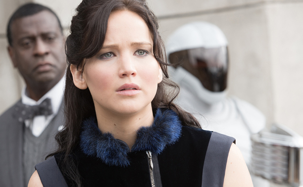 Jennifer Lawrence as Katniss Everdeen in The Hunger Games: Catching Fire –Provided Murray Close (Photo)