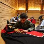 Community members come together to make record-breaking button blanket