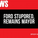 Ford stupored, remains mayor