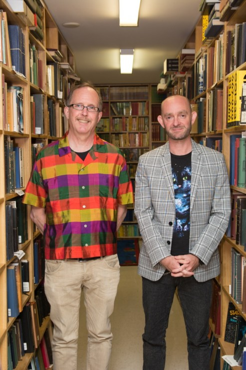 John Barton (left) and Chris Hutchinson (right) launched their books at Russell Books on June 4. –Hugo Wong (photo)