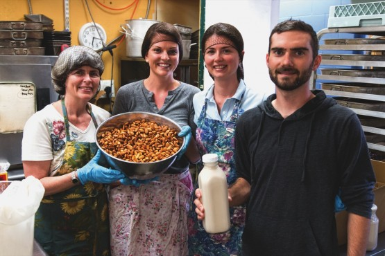 From left: Gaynor, Cara, and Kiley McLean, Cory Brigham of Mylkmaid. –James Sturrock (photo)