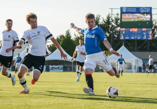 The Highlanders in action with Rangers FC in 2014. Photo by Hugo Wong, photo contributor