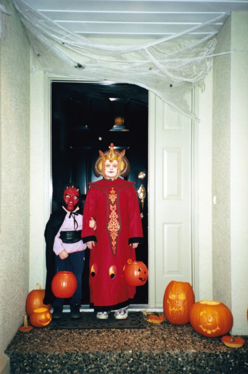 The author and her brother on Halloween circa 2000. –Provided (photo)