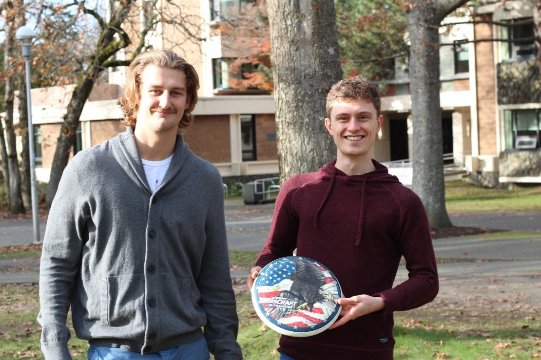 Alexei Watson, fifth-year Earth and Ocean Sciences student Torsten Hansen, fourth-year Earth and Ocean Sciences student