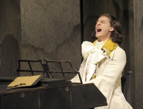 Aidan Correia as Mozart stars in Amadeus, running until March 21 at UVic's Phoenix Theatre. Photo by David Lowes (provided)