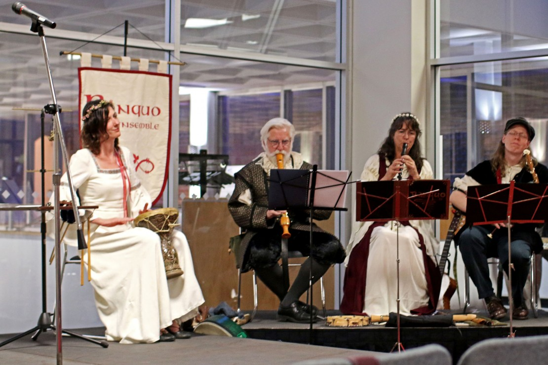 The Banquo Folk Ensemble performs at Waking the Bard. Photo by Brad Seabrook