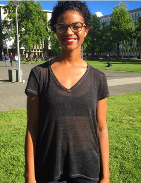 Leslie Ahenda, second-year Writing student
