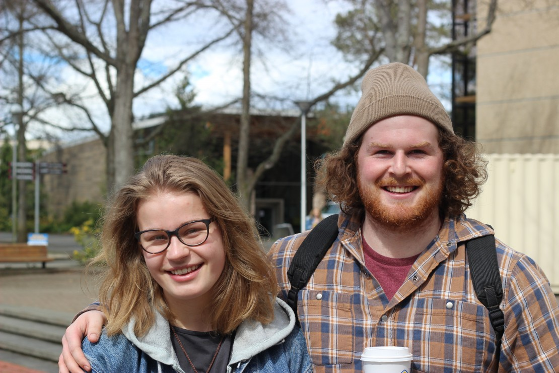 SEANNA ZINTEL, THIRD-YEAR GEOCHEMISTRY STUDENT, AND GEORDIE FORSYTHE, SECOND-YEAR HISTORY STUDENT