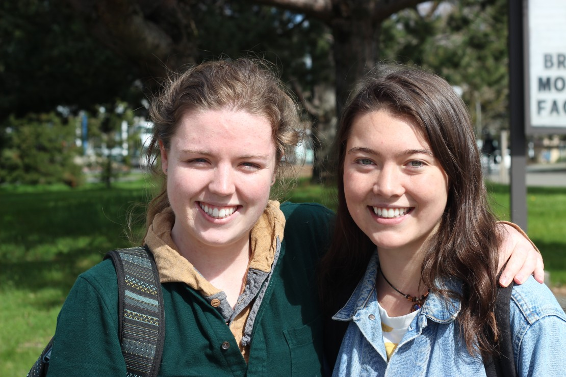 NATALIE SMITH, FOURTH-YEAR TEACHING STUDENT, AND RAYNE KRAMER, FOURTH-YEAR PSYCHOLOGY STUDENT