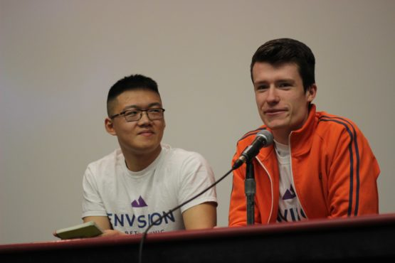 Haichuan Zhang and David Stevanovic, acclaimed UVSS Directors-at-large with the Envision UVic Slate.