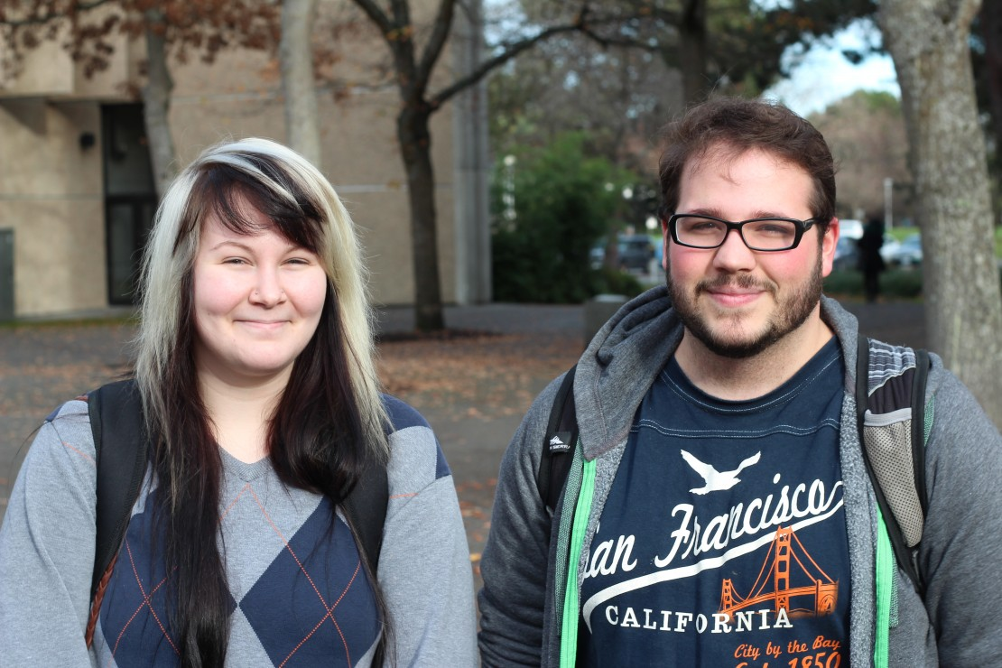 Stephane Patenaude, third-year French student Kyra Kristmanson, third-year English student