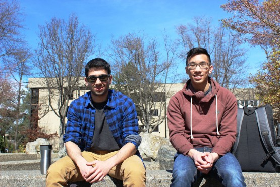 Trevor Lee, third-year Engineering student, and Maitreya Panse, fourth-year Engineering student