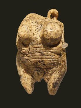 "The Venus of Hohle Fels is the subject of April Nowell's talk, ""Paleo-Porn,"" at TEDx Victoria. Photo by Thilo Parg / Wikimedia Commons. License: CC BY-SA 3.0"
