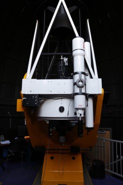 This 32-inch telescope, one of two located at UVic, is housed in the Bob Wright building. Photo by Keshia Keele, Photo Editor.