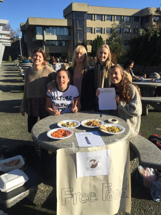 Members of Vulture Culture table outside Mystic Market to encourage students to try tray raiding. Photo provided by Vulture Culture