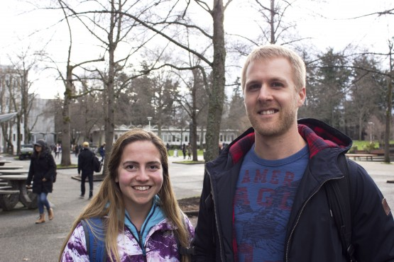 Shannon Pyke, Fifth-year Microbiology, and Shad Martin, Fourth-year Microbiology