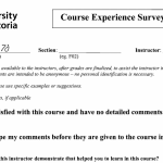 Grading anonymity in UVic Course Experience Surveys