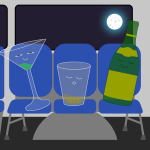 Drunkards maintain reasonable volume on public transit
