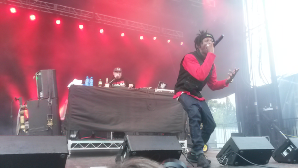 Joey Bada$$ (right) on stage at Rifflandia Festival. Photo by Emmett Robinson Smith.