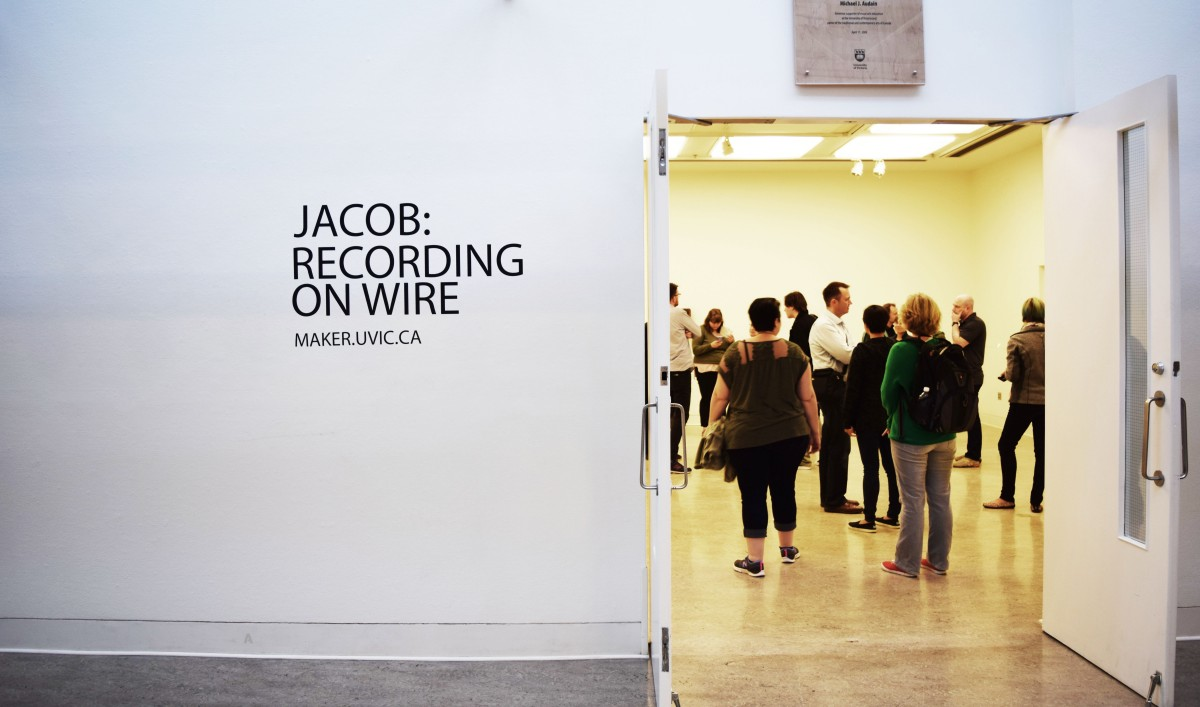 Jacob: Recording on Wire successfully replicated a 19th-century experiment conducted by Danish inventor Valdemar Poulsen. Photo by Danielle Morgan