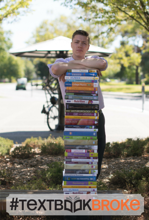 Maxwell Nicholson hopes the TextbookBroke campaign will encourage more professors to adopt open source texts. Photo provided by UVSS