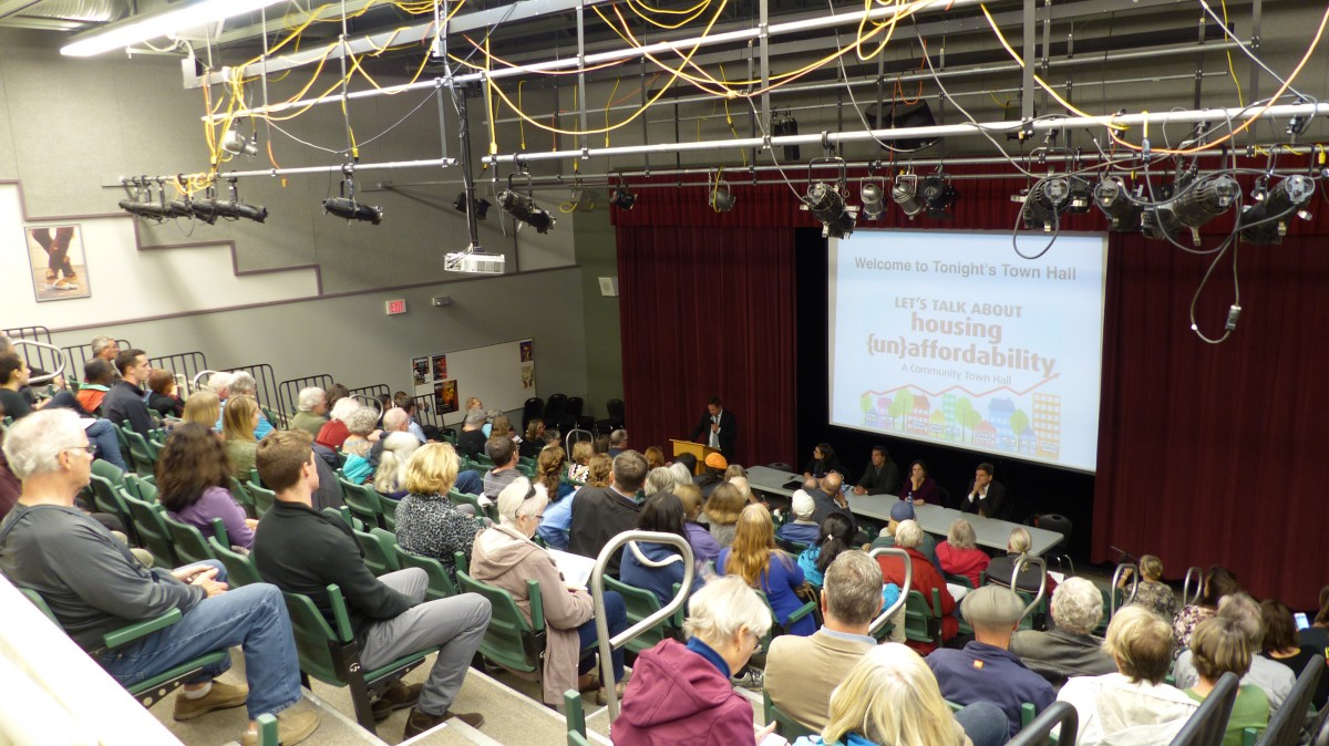 A full house of attendees came out for a discussion of the current B.C. housing crisis. Photo by Colin Grainger, Contributing Writer