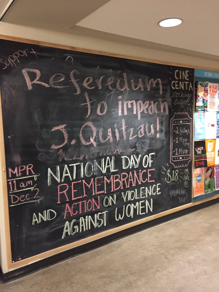 the board of directors vote to rescind vipirg referendum this chalkboard message calling for quitzau s impeachment captured the overwhelming sentiment of many who attended