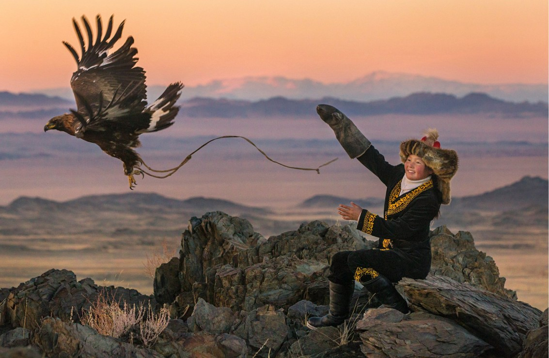 The Eagle Huntress follows Aisholpan, a 13-year-old girl, as she trains to become the first female in twelve generations of her family to become an eagle hunter. It plays at Cinecenta this weekend. Via Sony Pictures Classics