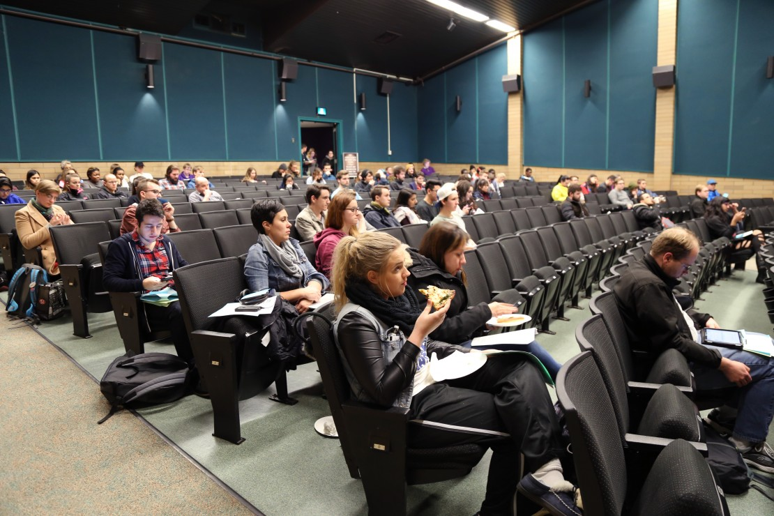 Low turnout at last Thursday's semi-annual general meeting meant that the board couldn't hold any votes on resolutions. Photo by Belle White, Photo Editor