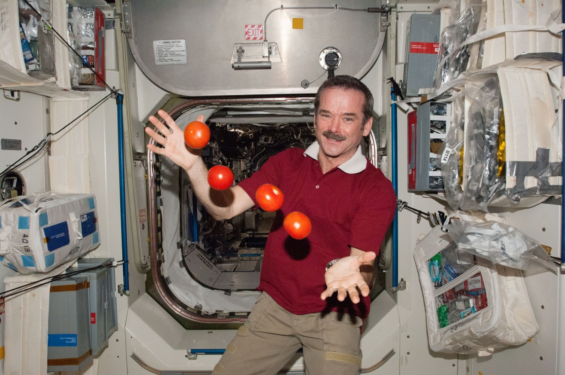 Commander Chris Hadfield, seen here in the International Space Station, is coming to Victoria for a series of performances with the Victoria Symphony starting March 24.