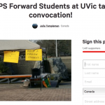 UVic responds to petition supporting student excluded from convocation