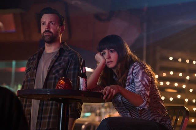 Jason Sudeikis and Anne Hathaway star in 'Colossal,' a monster film with more going on than its marketing might suggest. Image credit: Neon