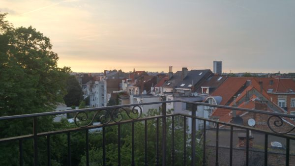A balcony view of Schaerbeek, a municipality of Brussels. Photo by Anna Dodd