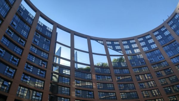 A photo of the European Parliament in Strasbourg, France — one of two places the 751 members convene. Photo by Anna Dodd