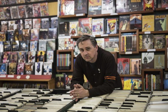 Gareth Gaudin, current owner of Legends Comics and Books in downtown Victoria, celebrates the 25th anniversary of the iconic shop. Photo by Spencer Pickles, Photo Contributor