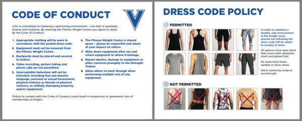 "A photo of CARSA's updated dress code. The only change is the addition of the short shorts photo in the bottom right and the mention of ""gluteal folds"". Photo provided and edited for sizing purposes"