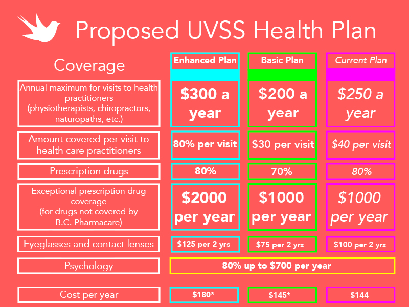 Details regarding the UVSS health plan
