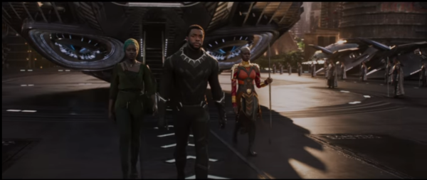 Three of the main characters from the Black Panther in the trailer