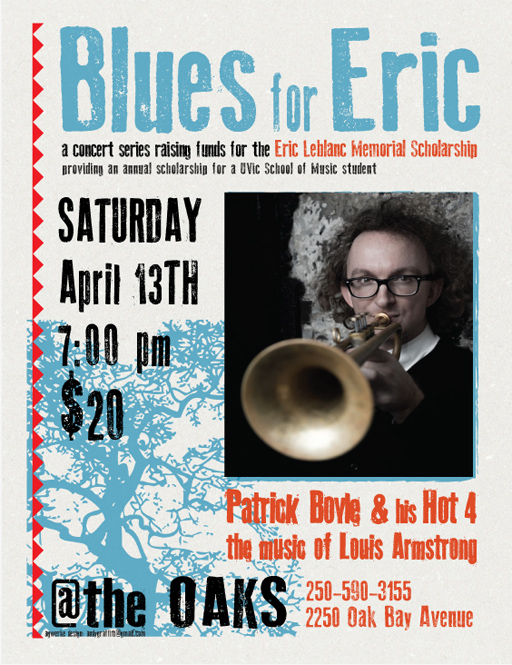 Patrick Boyle to play at latest 'Blues for Eric' concert on April 13