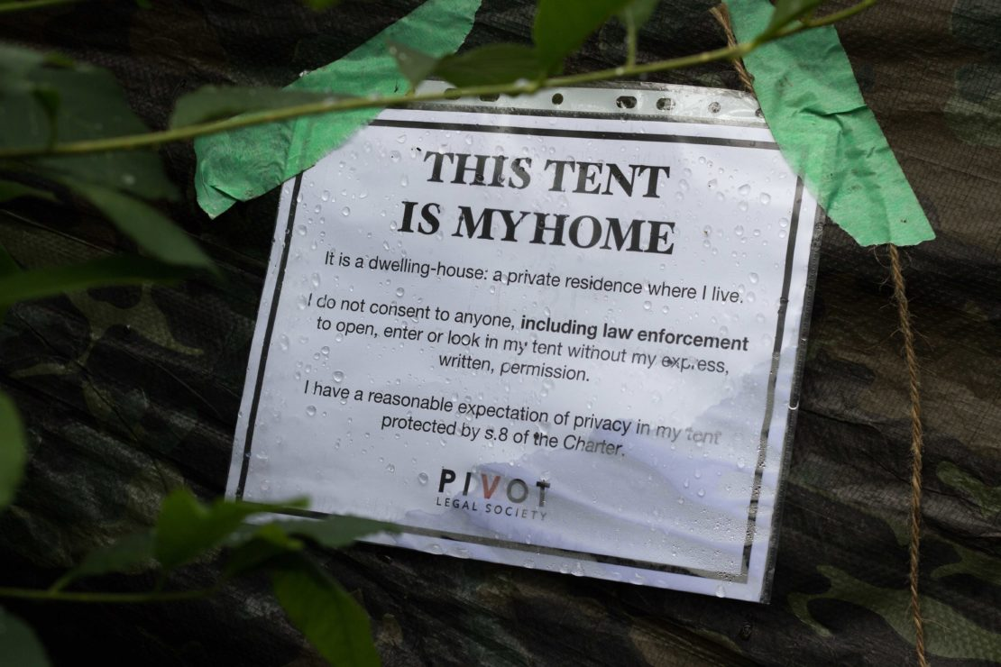 tent is my home poster in Beacon Hill Park