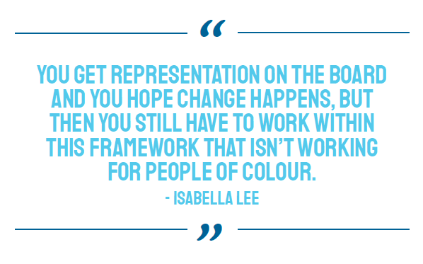 BIPOC representation at UVic, quote from Isabella Lee