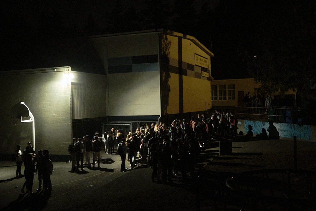 party at nearby elementary school